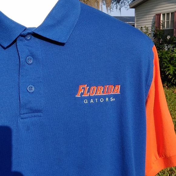 Champs Sports by Team Edition Apparel Other - Gator UF Mens Polo by Champs Sports Blue Orange LG